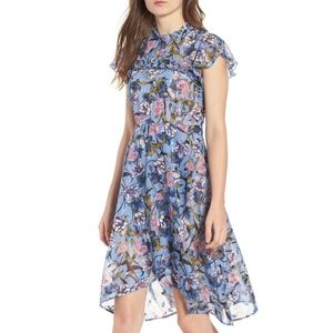 Chelsea28 Ruffle Front High Low Dress XS